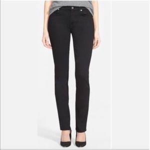Gap Real Straight Black Jeans 25R
